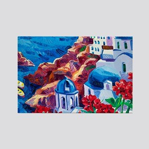 Greek Oil Painting Rectangle Magnet