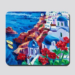 Greek Oil Painting Mousepad