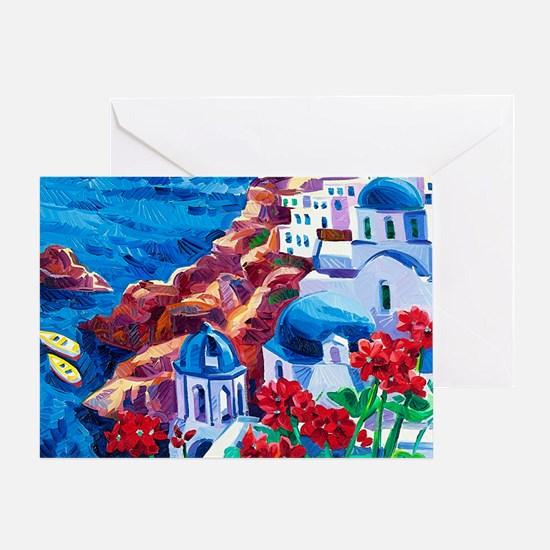 Greek Oil Painting Greeting Card