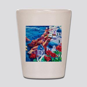 Greek Oil Painting Shot Glass