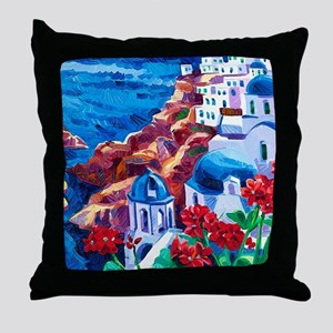 Greek Oil Painting Throw Pillow