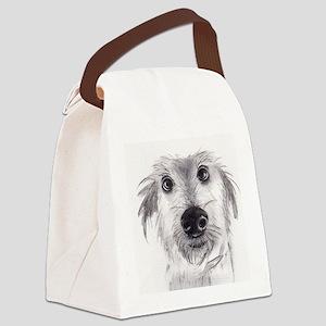 Cute scruffy lurcher Canvas Lunch Bag