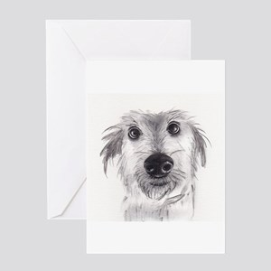 Cute scruffy lurcher Greeting Card