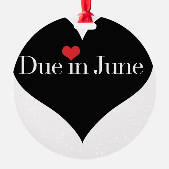 Due in June Heart Ornament