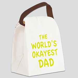 theWorldsOkayestDad1E Canvas Lunch Bag