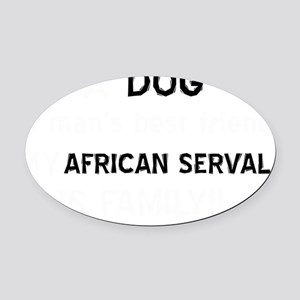 African Serval cat designs Oval Car Magnet
