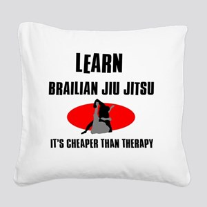 Brazilian Jiu Jitsu silhouett Square Canvas Pillow