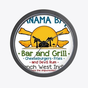 Panama Bax Bar and Grill 2 Wall Clock