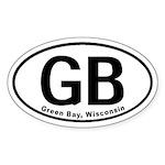 Green Bay, WI Oval Sticker