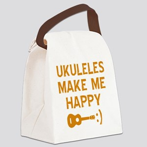 My Ukukele makes me happy Canvas Lunch Bag