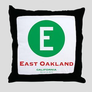East Oakland Throw Pillow