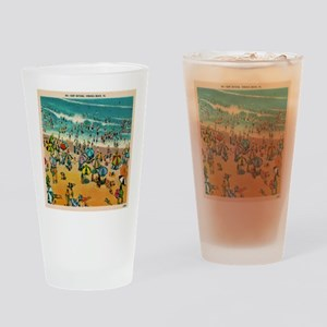 Vintage Virginia Beach Postcard Drinking Glass