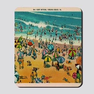 Vintage Virginia Beach Postcard Mousepad