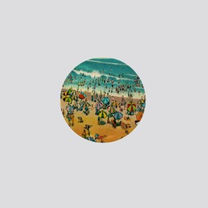 Vintage Virginia Beach Postcard Mini Button