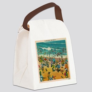 Vintage Virginia Beach Postcard Canvas Lunch Bag