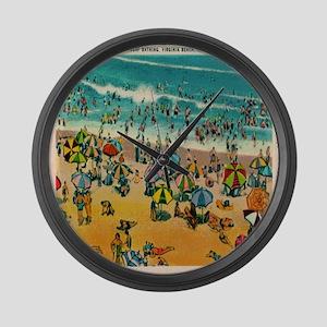 Vintage Virginia Beach Postcard Large Wall Clock