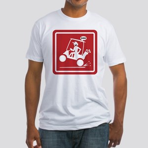 Golf Cart Wheelie Warning Signs Fitted T-Shirt