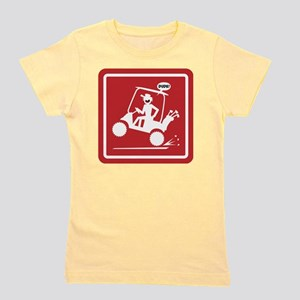 Golf Cart Wheelie Warning Signs Girl's Tee