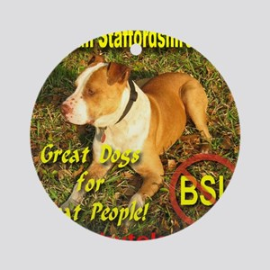 American Staffordshire Terrier Round Ornament