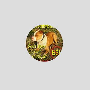 American Staffordshire Terrier Mini Button