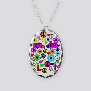 phone 222 Necklace Oval Charm