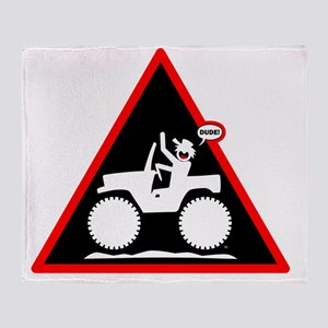 Jeeping DUDE Danger Signs-1w Throw Blanket