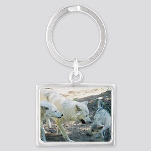 """""""A Wolf Family"""" Landscape Keychain"""