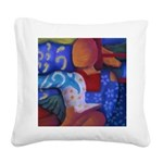 Bridge Inner & Outer Worlds Square Canvas Pillow