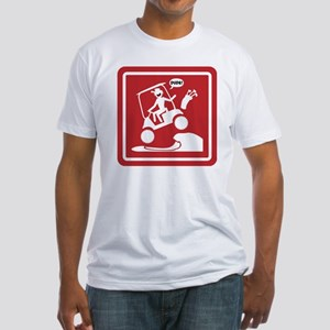 Golf Cart Jumping Warning Signs Fitted T-Shirt