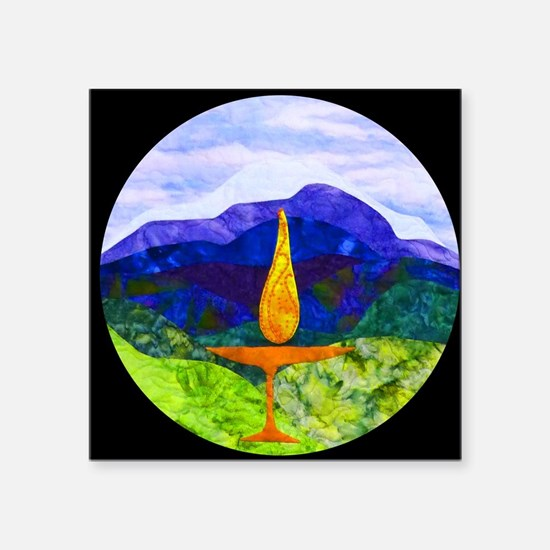 "Mountains Chalice Cir Square Sticker 3"" x 3"""