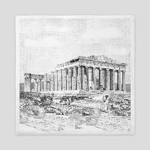 Parthenon Acropolis Athens Queen Duvet