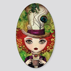 Lady Hatter Sticker (Oval)