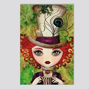 Lady Hatter Postcards (Package of 8)