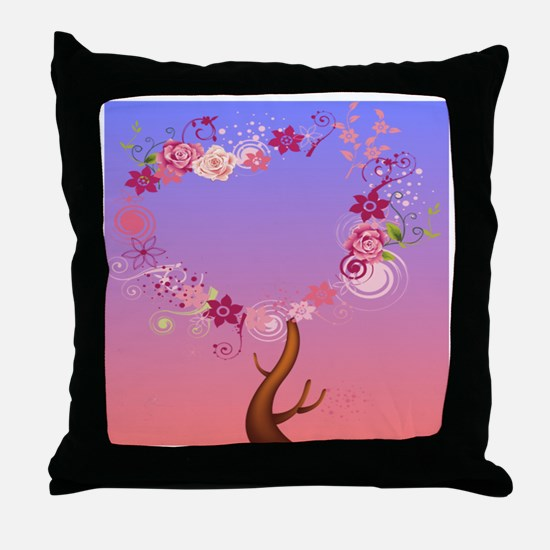 love tree Cat Forsley Designs Throw Pillow