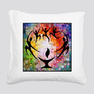 Dancer Chalice Square Canvas Pillow