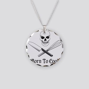 Born To Cook Necklace Circle Charm