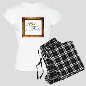 With God Women's Light Pajamas