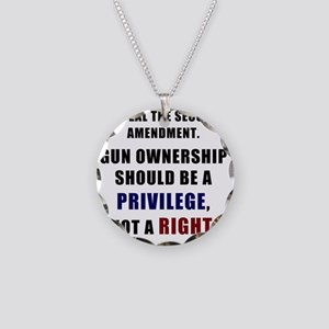 Repeal the second amendment  Necklace Circle Charm