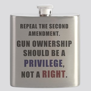 Repeal the second amendment 2 Flask