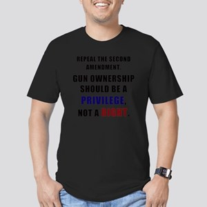 Repeal the second amen Men's Fitted T-Shirt (dark)