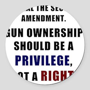 Repeal the second amendment 2 Round Car Magnet