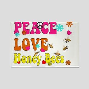 peace love honeybees Rectangle Magnet
