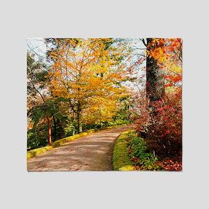 Autumn colors Throw Blanket