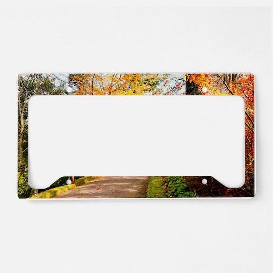 Autumn colors License Plate Holder
