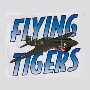 Flying Tigers Throw Blanket
