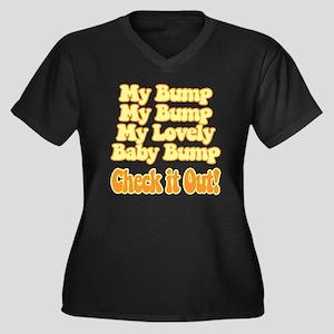 baby-bump2 Women's Plus Size Dark V-Neck T-Shirt
