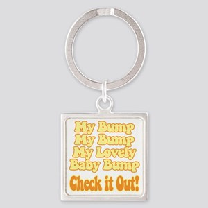 baby-bump2 Square Keychain