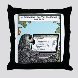 Searching for Prey Throw Pillow