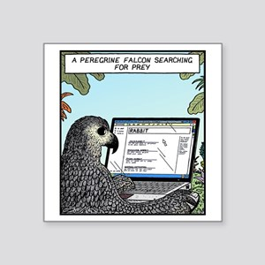 "Searching for Prey Square Sticker 3"" x 3"""