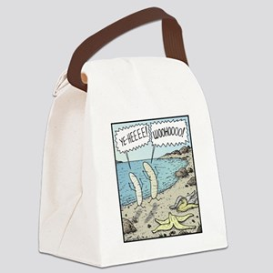 Bananas Skinny-dipping Canvas Lunch Bag